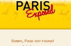 Cerrada la web ParisExposed.com