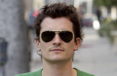 Orlando Bloom verde por St Patrick Day