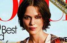 Keira Knightley en Vogue magazine