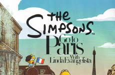 The Simpsons y Linda Evangelista en Harpers Bazaar