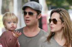 Angelina, Brad y Shiloh en New York