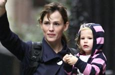 Jennifer Garner y su hija Violet en New York