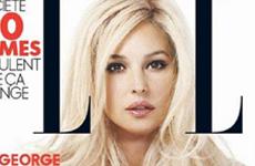 Monica Bellucci rubia en Elle Magazine (octubre)