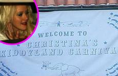 Christina Aguilera en su baby boy shower!