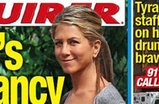 Jennifer Aniston y su embarazo secreto (National Enquirer)