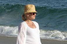 Gwen Stefani y su familia en la playa