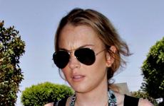 Lindsay Lohan esta feliz con su peso y su figura
