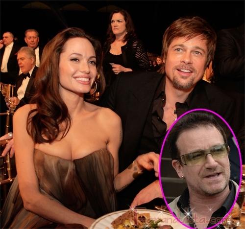 Bono sera el padrino de los gemelos Jolie-Pitt?