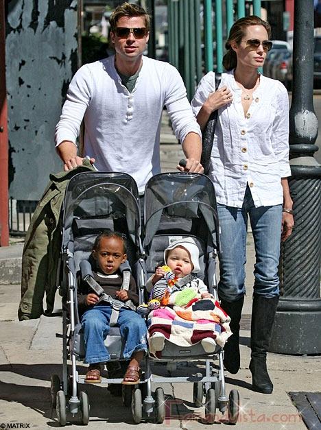 People tendra las primeras fotos de los gemelos Jolie-Pitt