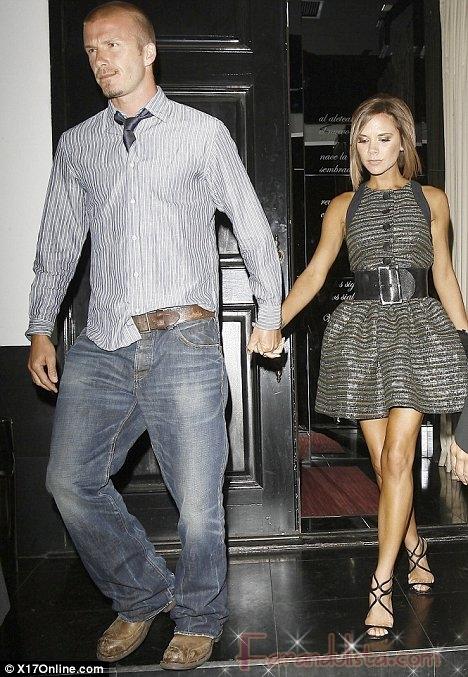 Victoria y David Beckham chocan su auto en Francia