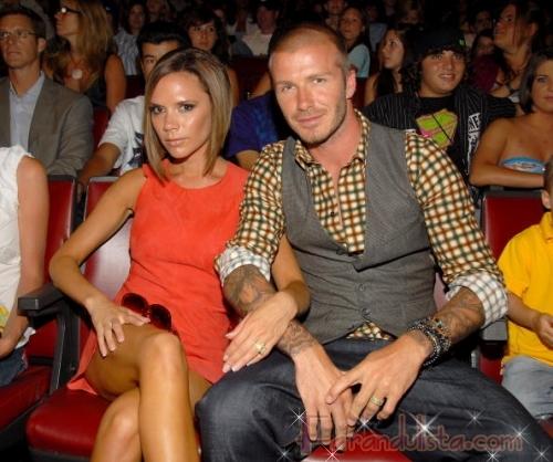 David y Victoria Beckham en los Teen Choice 2008