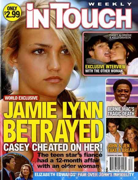 Jamie Lynn Spears traicionada por Casey [InTouch]