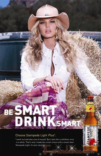 Jessica Simpson es imagen de una cerveza