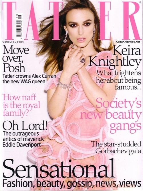 Keira Knightley en Tatler magazine [Sept]