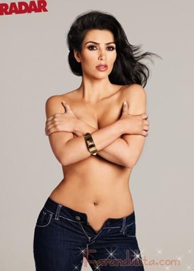Kim Kardashian topless en Radar - Bites and Gossip Links