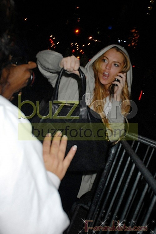 Lindsay Lohan golpeo a un paparazzi