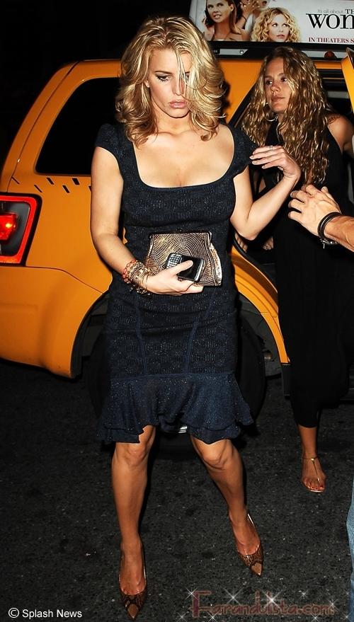 Jessica Simpson muy ebria para la fiesta de Marc Jacobs