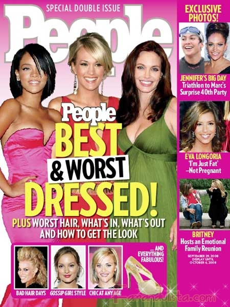 Fergie y Rihanna en la lista de las Mejor Vestidas 2008 [People]