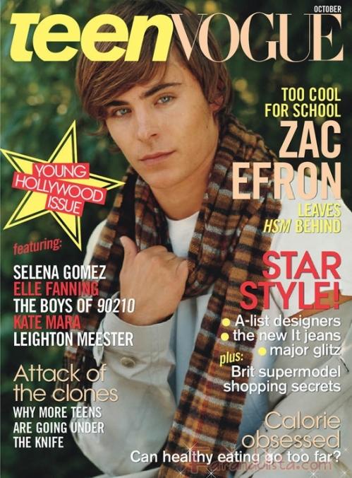 Zac Efron en Teen Vogue [Octubre]