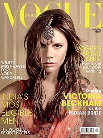 Victoria Beckham posa para Vogue India