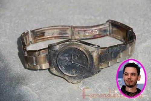 DJ AM publica una foto de su reloj luego del accidente