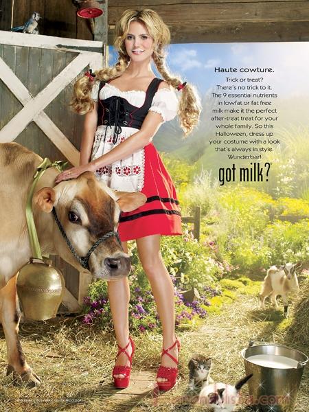 Heidi Klum es la nueva imagen de Got Milk