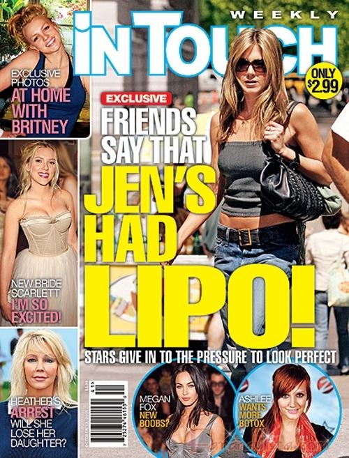 El Chiste de la semana: Jen Aniston se hizo la Lipo! [InTouch]
