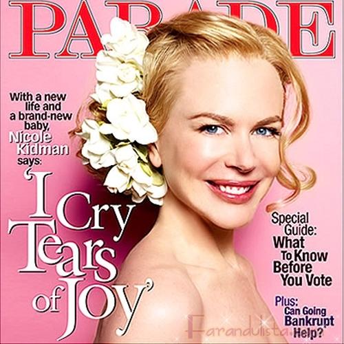 Nicole Kidman llora de solo pensar en su bebita Sunday Rose