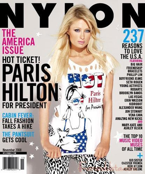 Paris Hilton para Presidente en Nylon magazine
