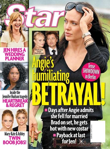 Titular de la semana: Brad traiciona a Angelina con su co-star