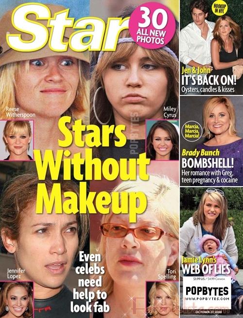 Celebridades sin maquillaje - Bites and gossip links!