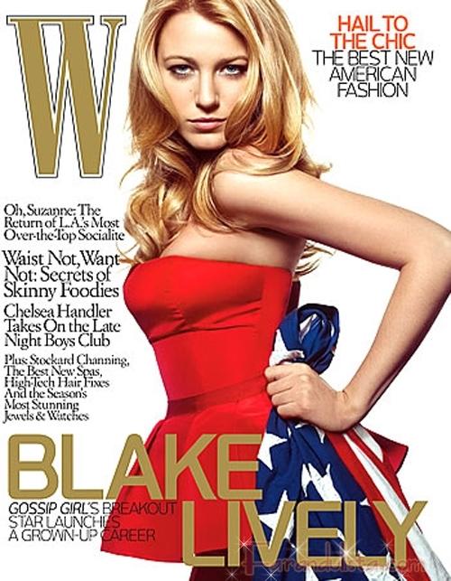 Gossip Girl Blake Lively en W magazine