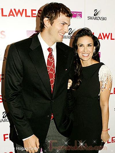 Demi Moore y Ashton Kutcher en la Premier de Flawless