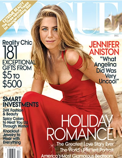 Jennifer Aniston finalmente habla de Angelina Jolie en Vogue