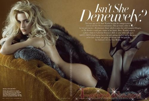 Kate Winslet niega que sus fotos de Vanity Fair sean retocadas