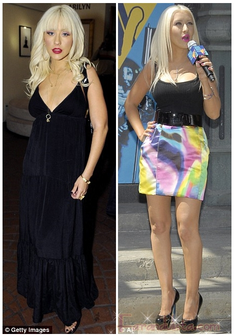 Christina Aguilera ya no tiene mega boobies
