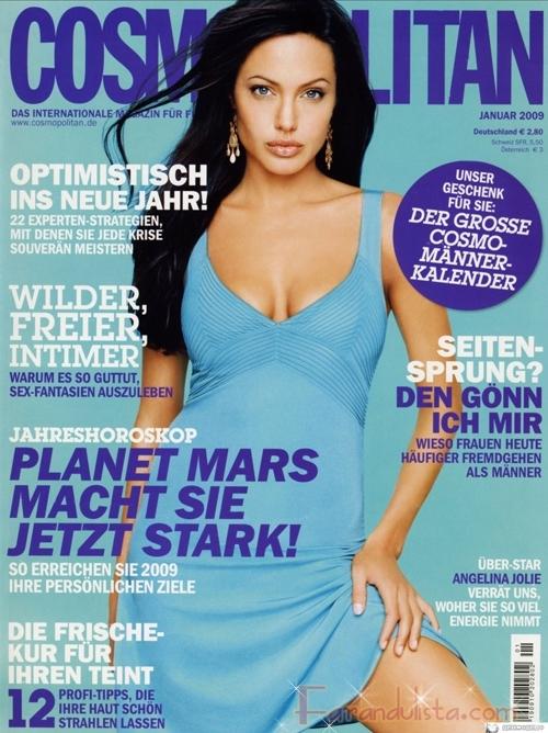 Angelina Jolie irreconocible en Cosmopolitan Alemania