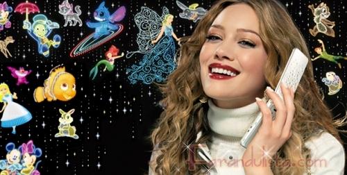 Hilary Duff en el nuevo comercial de Disney Mobile Japan