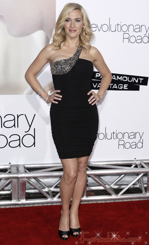 Kate Winslet hermosa en la premier de Revolutionary Road L.A