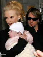Nicole Kidman, Keith Urban y Sunday Rose en Paris