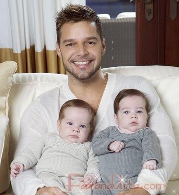 Conoce a Matteo y Valentino los Gemelos de Ricky Martin