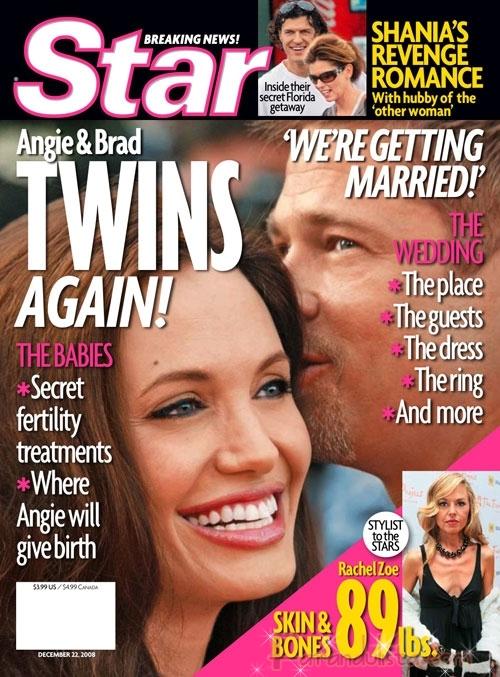 El titular LOL de la semana: Angelina tendra gemelos otra vez