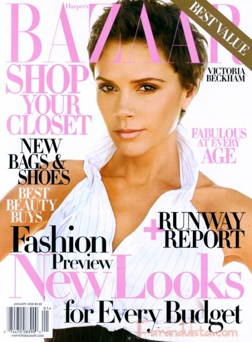 Victoria Beckham en Harper's Bazaar Enero 2009