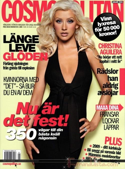 Christina Aguilera hermosa en Cosmopolitan Suecia