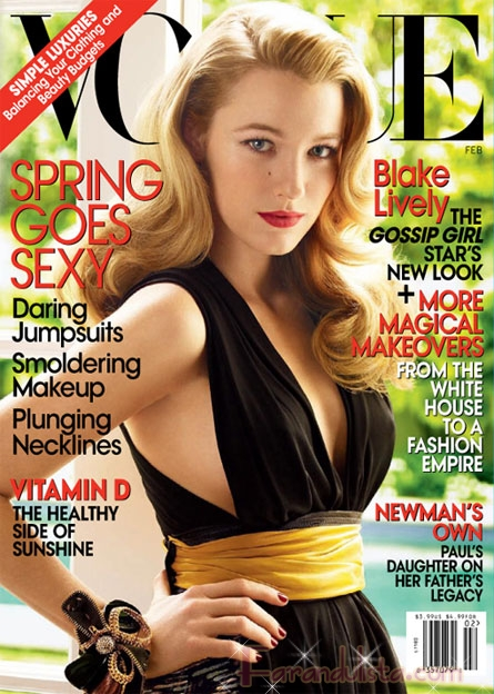 Gossip Girl Blake Lively in Vogue magazine... wait! VOGUE?
