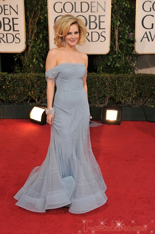 Call Fashion Police! Drew Barrymore en los Golden Globe 2009