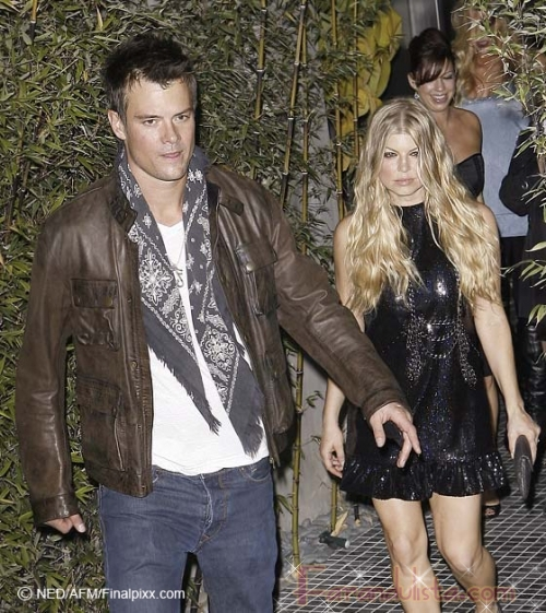 Fergie y Josh Duhamel de fiesta antes del gran dia