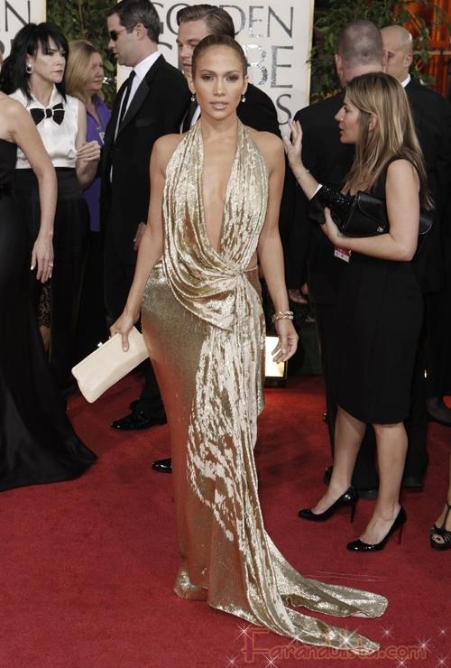 Jennifer Lopez en los Golden Globe 2009