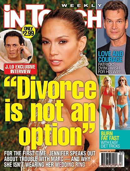Jennifer Lopez afirma que el divorcio no es una opcion