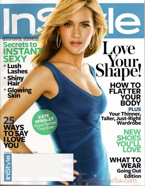 Kate Winslet Mejor Que Nunca en InStyle magazine